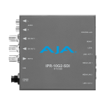 AJA IPR-10G2-SDI Bridging SMPTE ST 2110 Video and Audio to 3G-SDi