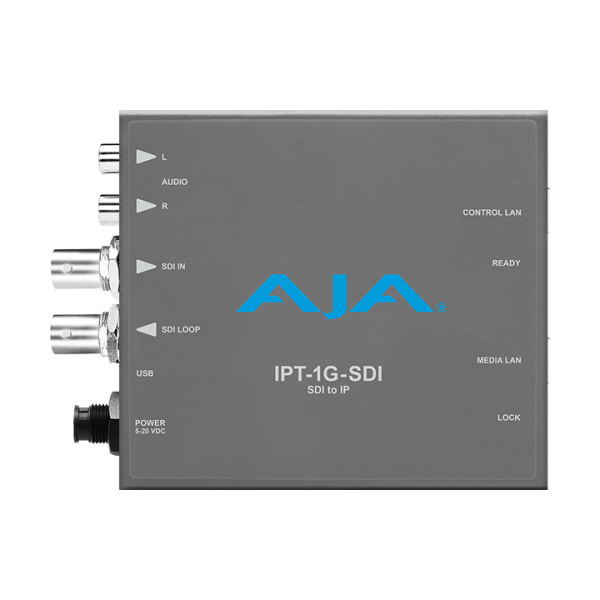 AJA IPT-1G-SDI 3G-SDI to JPEG 2000 IP Video and Audio Converter